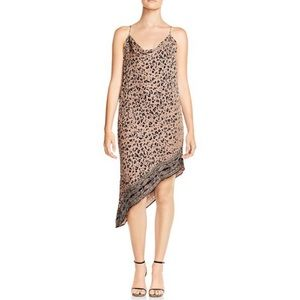 Haute Hippie 🐆leopard dress💥Asymmetrical..size 4